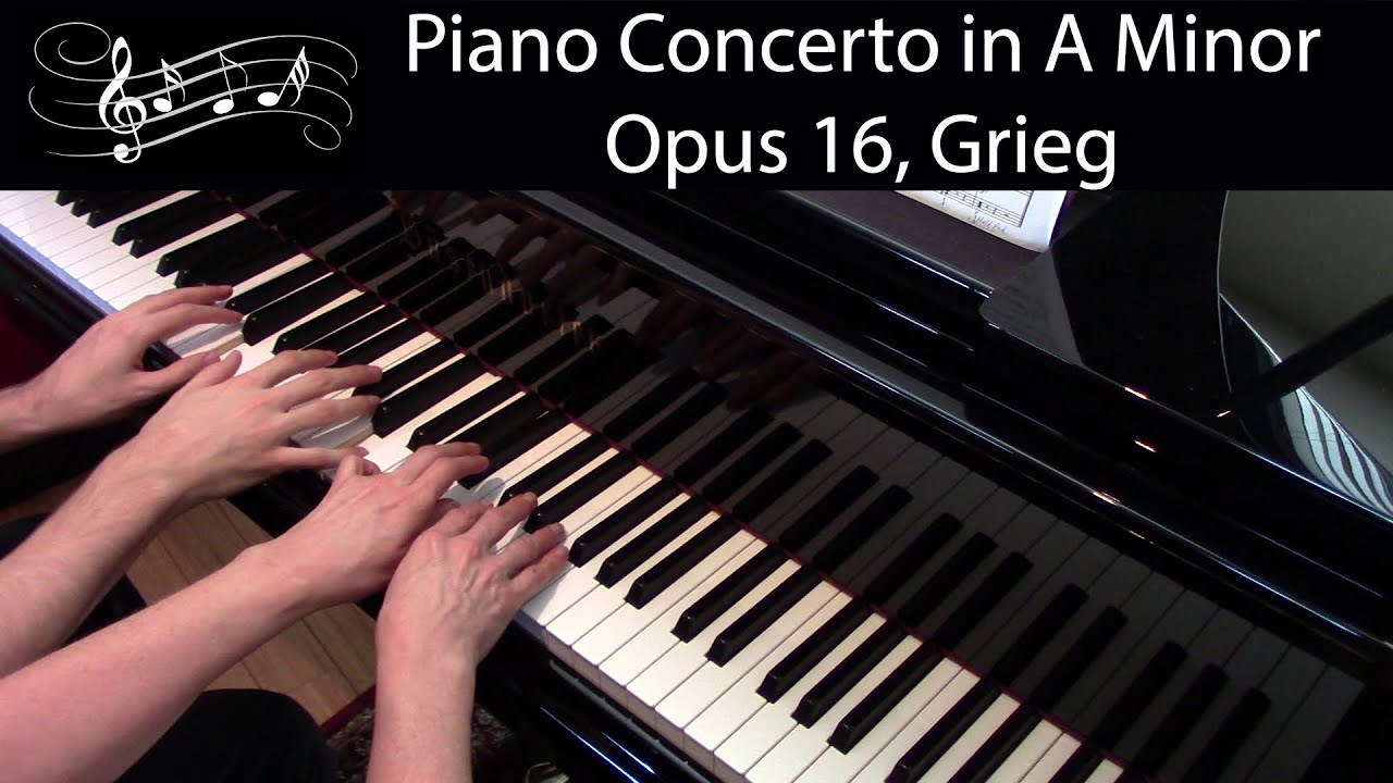 Piano Concerto in A minor, Op  16, Grieg (Early-Advanced Piano Duet)
