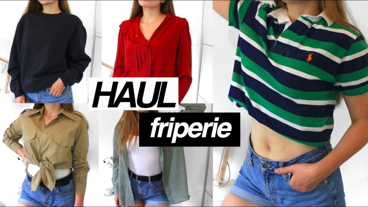 HAUL FRIPERIE (Adidas, Ralph Lauren...) + try-on