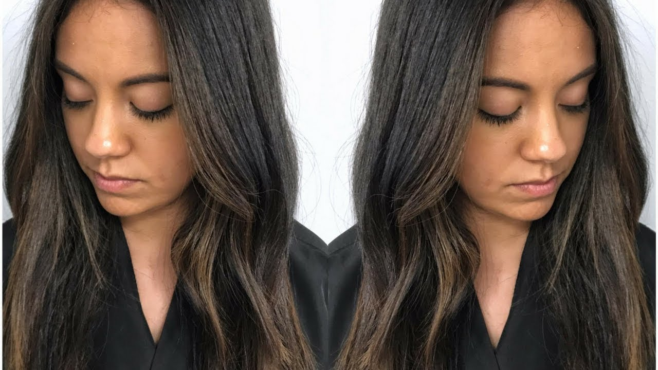 Subtle Brunette Balayage Fall Hair Color Tutorial Using