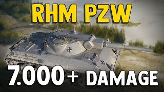 World of Tanks || Rhm. Pzw. 7,5k damage, 4 kills