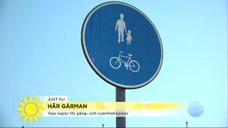 Nya regler ska underlätta för gångtrafikanterna - Nyhetsmorgon (TV4