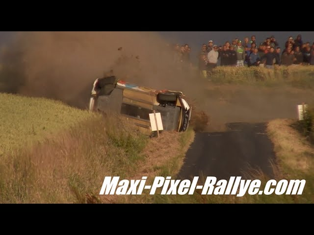 BIG CRASH THIERRY NEUVILLE YPRES RALLY 2017 [HD]