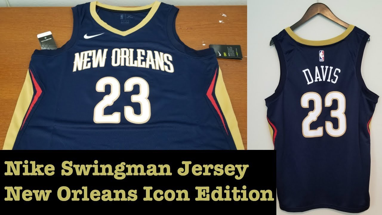 new product 6474e 6daed Nike Anthony Davis New Orleans Pelicans Icon Swingman Jersey