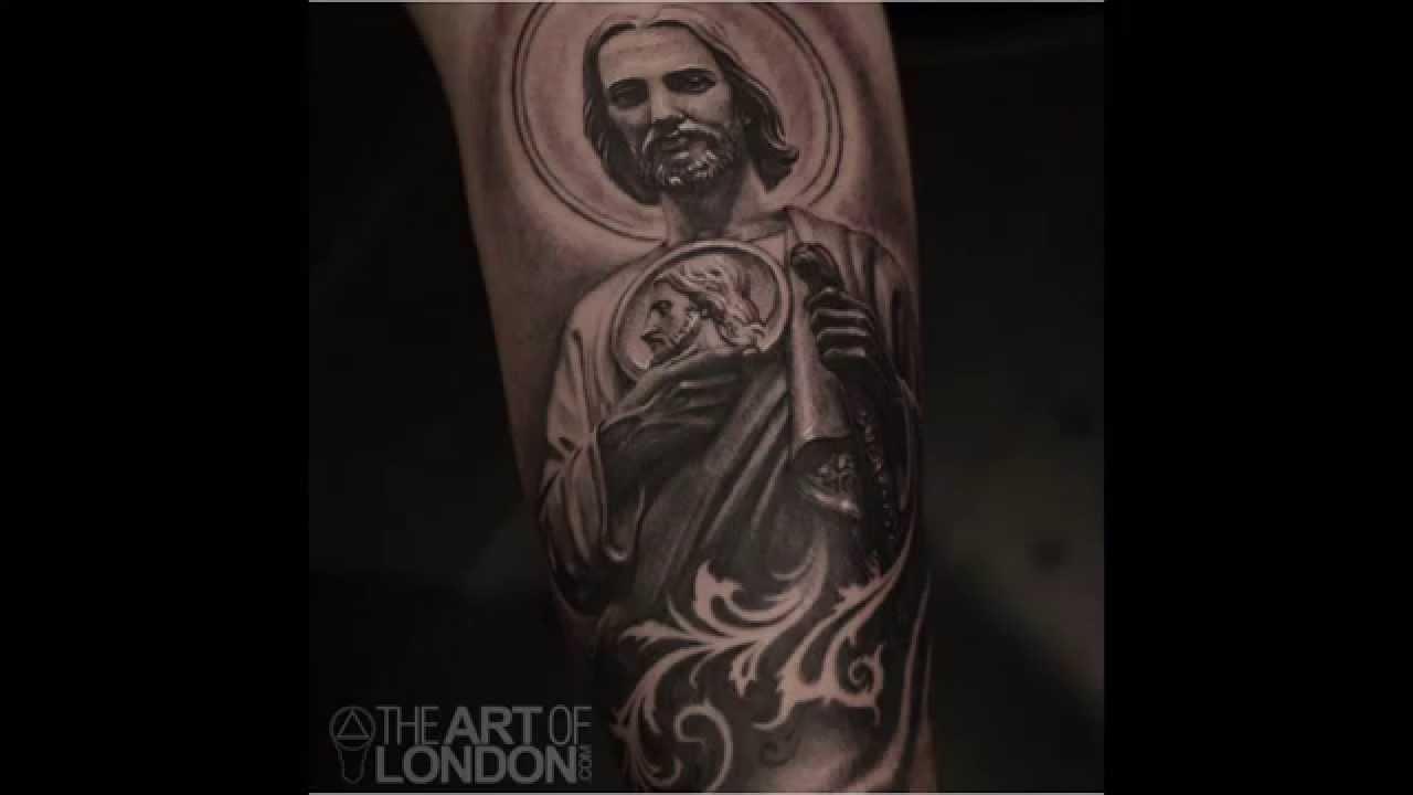 San Judas Tadeo Tattoo Arm