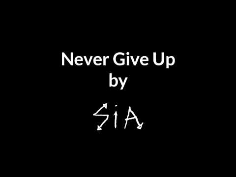 Never Give Up in the Style of Sia Instrumental with Backing Vocals