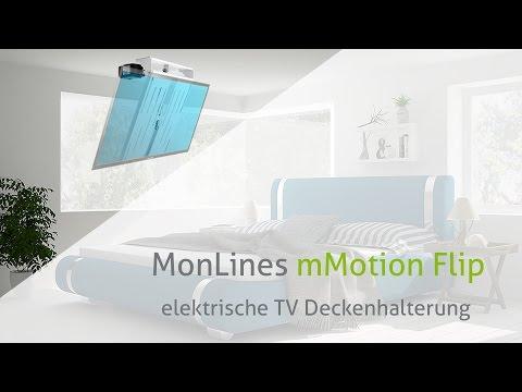 monlines-mmotion-flip-elektrische-tv-deckenhalterung-produkt-video