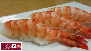 How To Prepare Raw Shrimp for Nigiri Sushi - How To Make Sushi Series