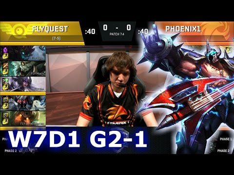 FlyQuest vs Phoenix1 Game 1 | S7 NA LCS Spring 2017 Week 7 Day 1 | FLY vs P1 G1 W7D1