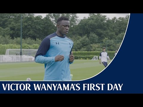New signing Victor Wanyama's first day – tests, running and a mic?