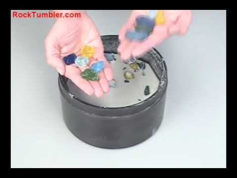 Making Tumbled Glass In A Rock Tumbler Youtube