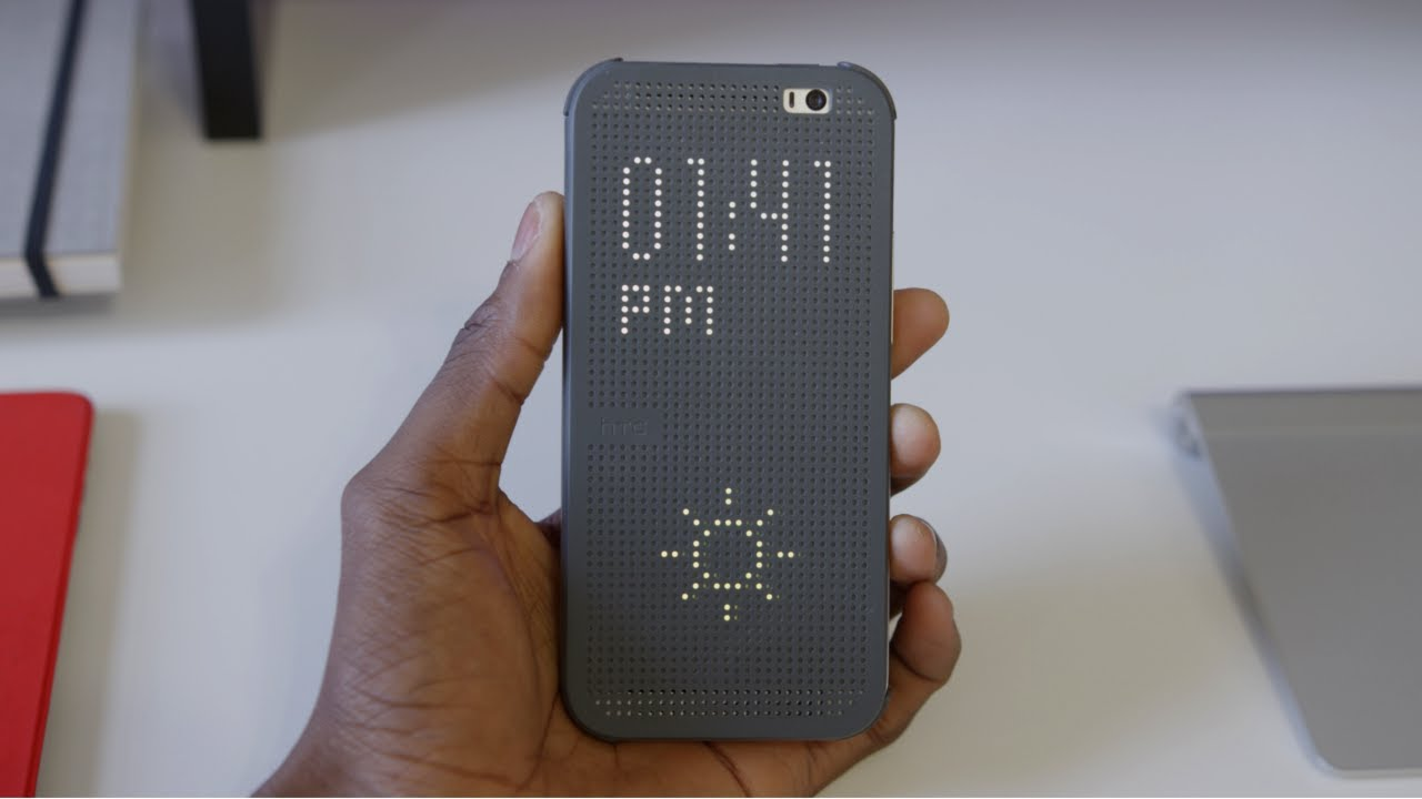 HTC One M8 Dot View Case! - YouTube