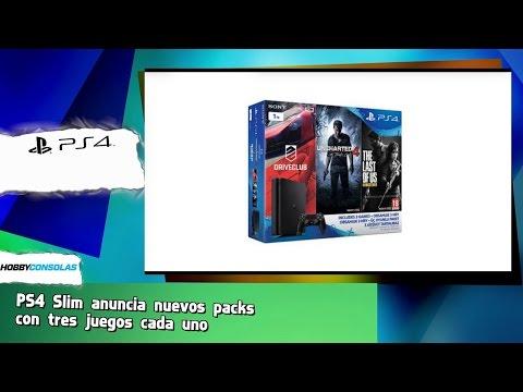 PS4 Slim anuncia nuevos packs  con tres juegos cada uno