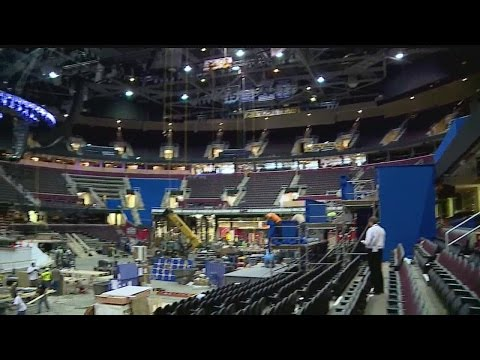 Quicken Loans Arena prepares for the RNC