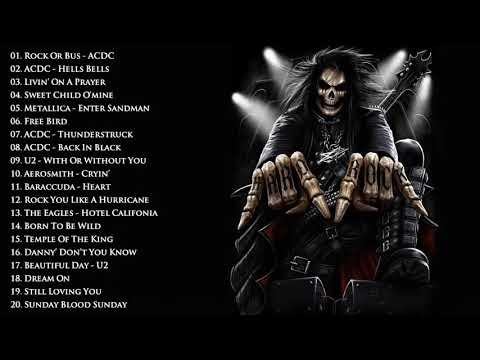 Metallica, ACDC, Scorpions, Black Sabbath, Iron Maiden - Hits Classic Heavy Metal Rock Songs