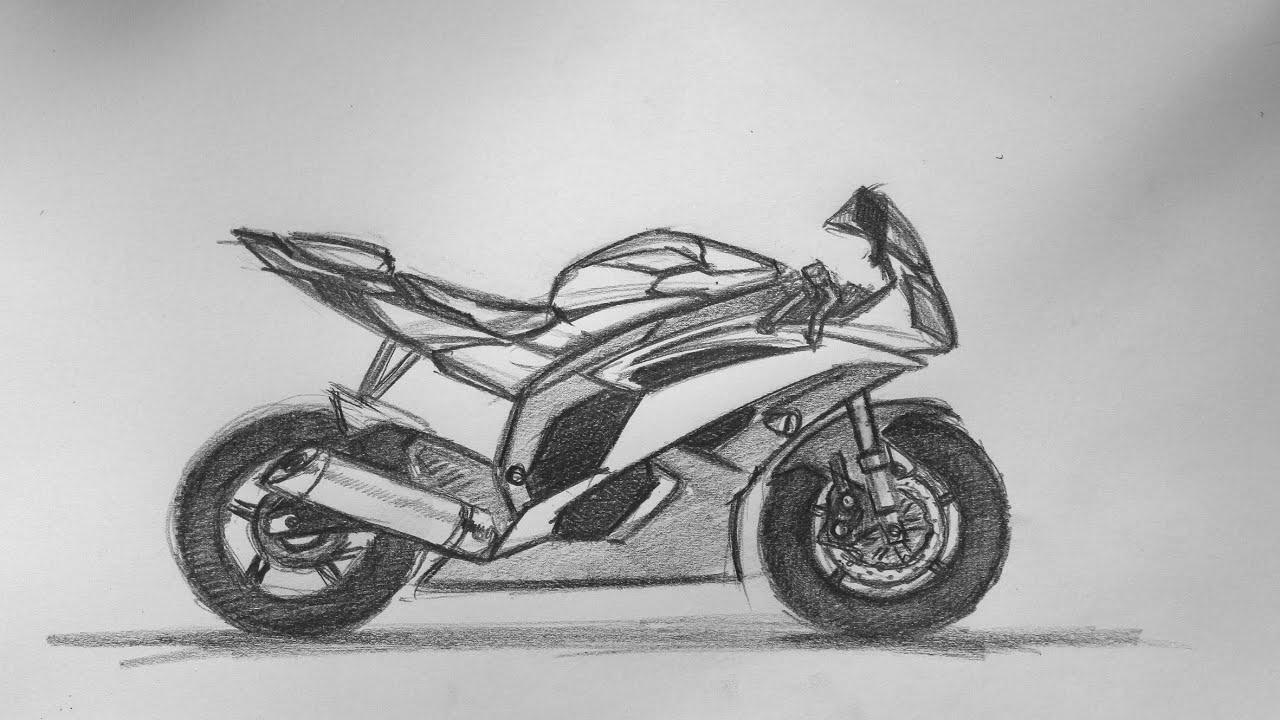 Yamaha motorbike sketch 08 08 2015