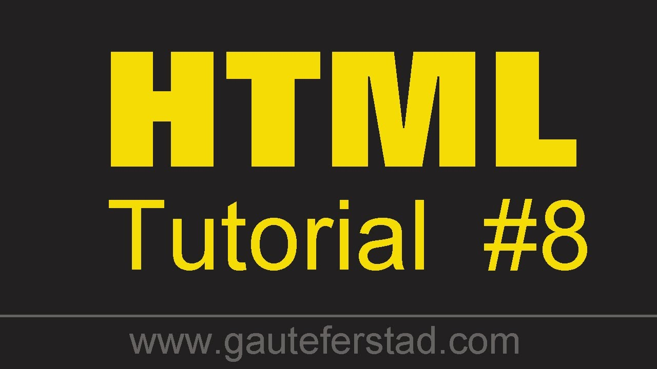 html tutorial 08 changing the background color text color and