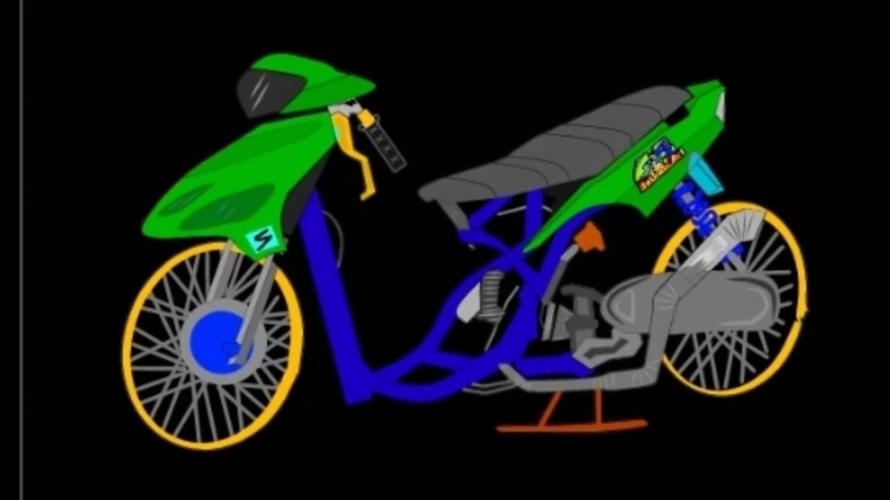 Gambar Motor Drag Mio Kartun Motorsites Co