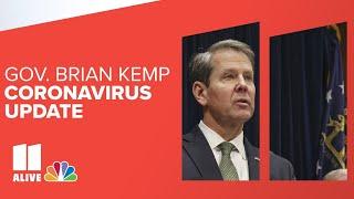 Gov. Kemp addresses Georgia after suing Atlanta over masks, restrictions   Watch live