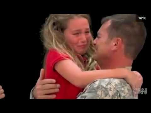 Soldier Surprises Daughter at Spelling Bee
