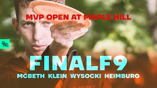 2020 MVP Open at Maple Hill | FINALF9 LEAD | Wysocki, McBeth, Heimburg, Klein | Jomez Disc Golf
