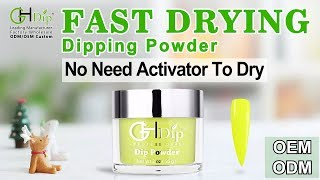 Neon color Dip Nails using 【Fast Drying Dip Powder 】