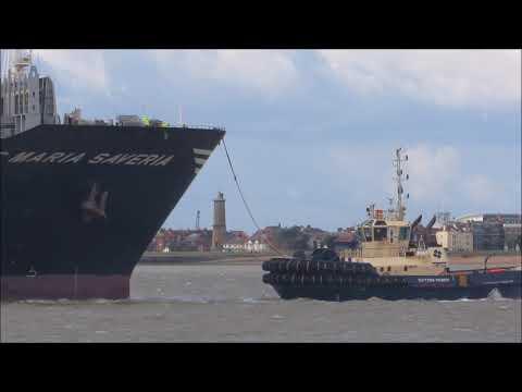 MSC Maria Saveria sails to Felixstowe from Valencia. 14th September 2017