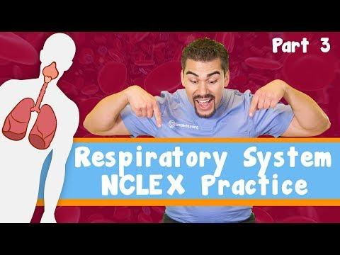Respiratory system Nclex practice. Part 3