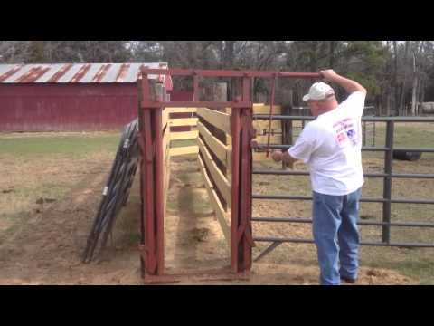 Home Made Head Gate For Cattle