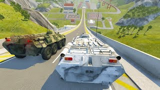 High Speed Jump Crashes BeamNG Drive Compilation #25 (Car Shredding Experiment)
