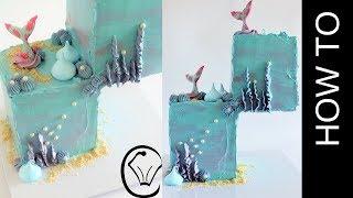 Gravity Defying 2 Tier Mermaid Cake - Collaboration Cupcake Savvy