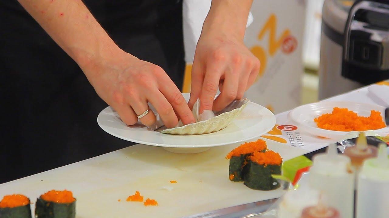 мастер класс по приготовлению роллов и суши
