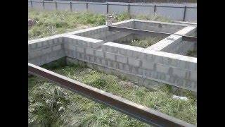 строим дом из арболитовых  блоков