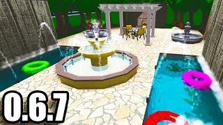 BloxBurg Update!! • Waterfalls and Fountains • Roblox (0.6.7)