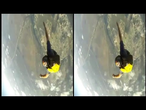 VR Video Skydiving Google Cardboard Side by Side