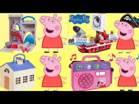 Nick Junior PEPPA PIG Play Sets Collection, Pirate Ship, House Duplo School, Pizzeria Playdoh / TUYC