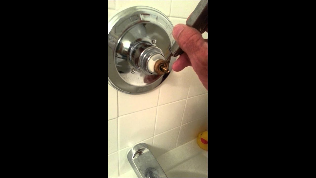 Delta Monitor Shower Faucet repair Part One - YouTube