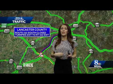 Southbound Route 222 shut down in Lancaster County - YouTube