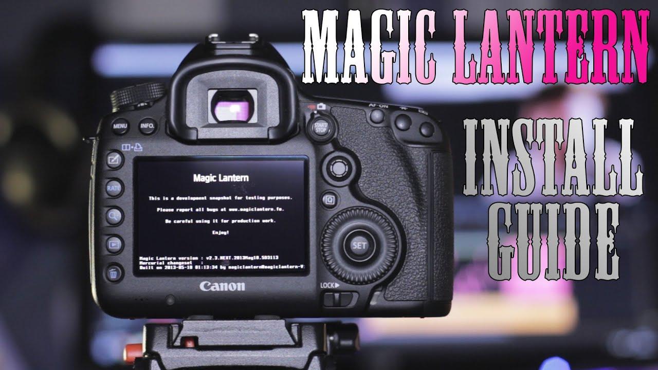 14Bit RAW Magic Lantern Install Tutorial - Canon 5D Mark III