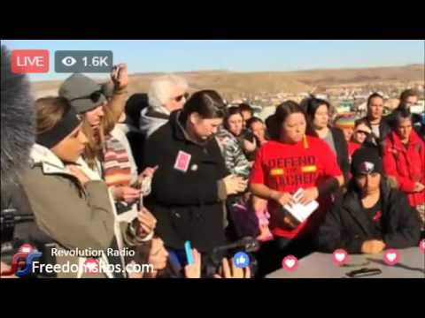Press Conference in response to eviction notice by army corps of engineers - standing rock