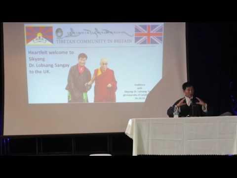 The Public Talk by Sikyong Dr Lobsang Sangay at University of London Union