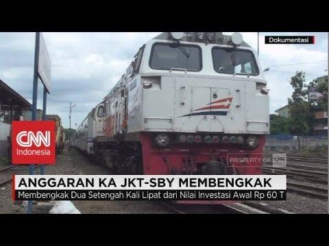 Anggaran Kereta Cepat Jakarta-Surabaya Membengkak