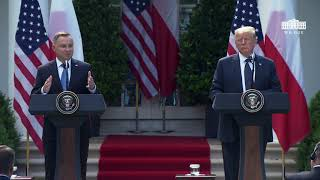 President Trump Participates in a Joint Press Conference with the President of Poland