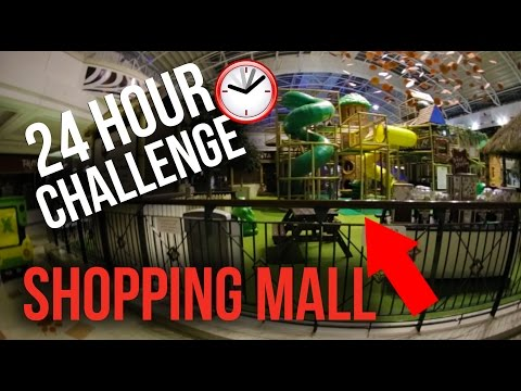 24 HOUR CHALLENGE   PLAYGROUND IN A SHOPPING MALL!!