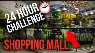 OVERNIGHT CHALLENGE IN A MALL (POLICE CHASE)