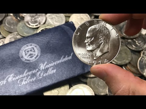 Eisenhower 40% Silver Dollar Unboxing, Values, & Information