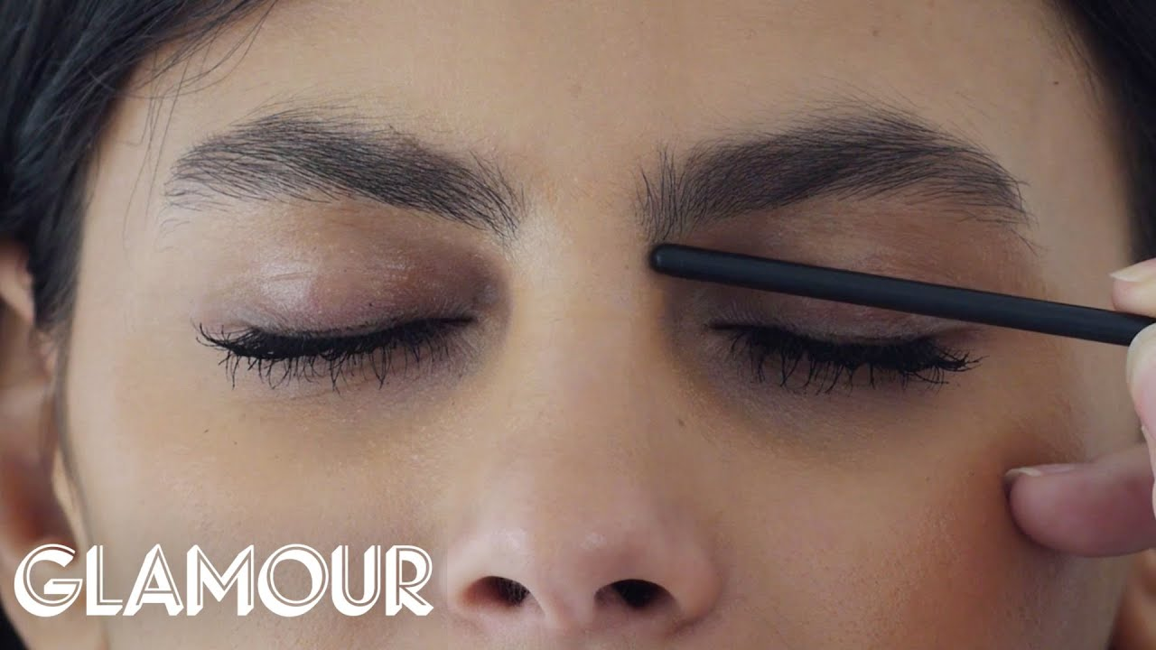 how to shape your eyebrows glamour youtube