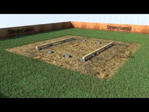 видео: Как построить гараж своими руками (основание для гаража)
