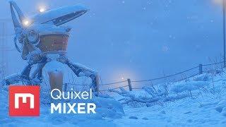 Quixel Mixer - A Cold Stop (Stålenhag Fan-Art)