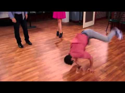 Cameron Boyce dancing break dance on Jessie