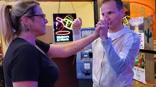 Lone Spur Bartender amazed by magician David Farr